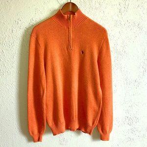 POLO Ralph Lauren Orange Half Zip Pullover
